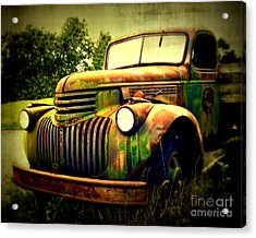 Old Flatbed 2 Acrylic Print by Perry Webster