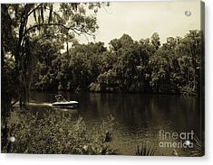 Old Florida Acrylic Print by Marilyn Carlyle Greiner