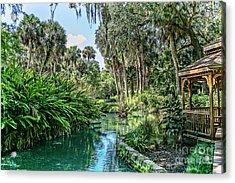 Old Florida Acrylic Print by Richard Burr