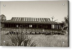Old Florida Sepia Acrylic Print by Michael Morrison