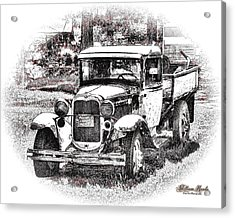 Acrylic Print featuring the photograph Old Ford Homemade Pickup by William Havle