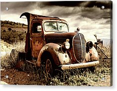 Old Ford Truck In Desert Acrylic Print