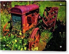 Old Fordson Tractor Acrylic Print