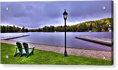 Old Forge Waterfront Acrylic Print by David Patterson