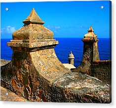 Old Fort Puerto Rico Acrylic Print by Perry Webster