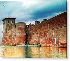 Old Fortress In Livorno Acrylic Print by Sue Melvin