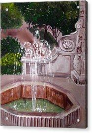 Old Fountain Acrylic Print by Anne Cameron Cutri
