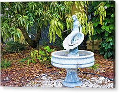 Old Fountain Acrylic Print