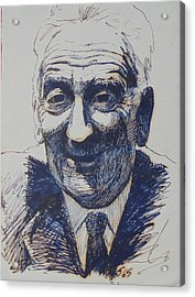 Acrylic Print featuring the drawing Old Fred. by Mike Jeffries