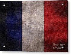 Old French Flag Acrylic Print by Jon Neidert