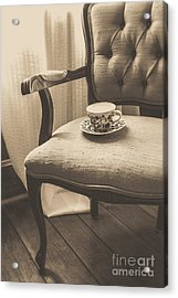Old Friend China Tea Up On Chair Acrylic Print by Edward Fielding