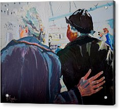 Old Friends In Love Acrylic Print by Francine Frank