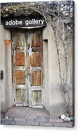 Acrylic Print featuring the photograph Old Gallery Door by Andrea Hazel Ihlefeld