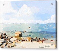 Old Garden Beach  Acrylic Print