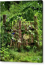 Old Garden Gate Acrylic Print by Mark Miller
