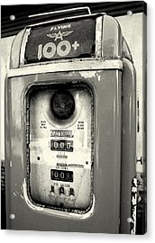 Old Gas Pump Acrylic Print by DazzleMePhotography