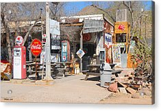 Old Gas Station, Historic Route 66 Acrylic Print