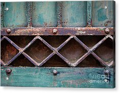 Acrylic Print featuring the photograph Old Gate Geometric Detail by Elena Elisseeva