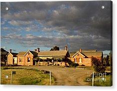 Acrylic Print featuring the photograph Old Ghan Railway Restaurant by Douglas Barnard