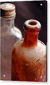 Old Glass Bottles Acrylic Print