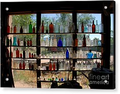 Old Glass Acrylic Print by David Lee Thompson