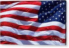 Acrylic Print featuring the photograph Stitches Old Glory American Flag Art by Reid Callaway