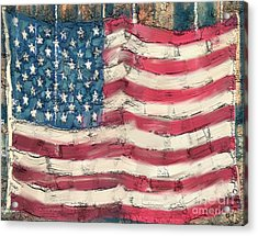 Acrylic Print featuring the painting Old Glory by Carrie Joy Byrnes