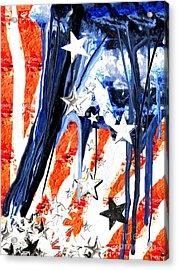 Old Glory Falling Stars 2 Acrylic Print
