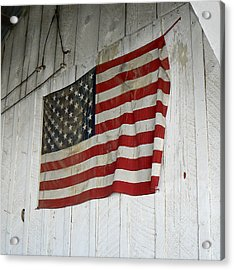 Old Glory Acrylic Print by Laurel Powell