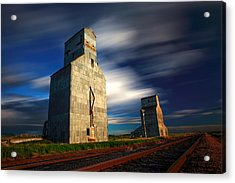 Old Grain Elevators Acrylic Print by Todd Klassy