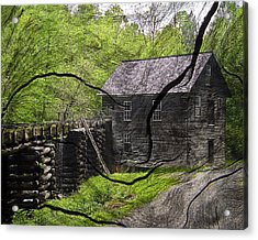 Old Grain Mill Acrylic Print by Michael Whitaker