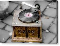 Old Gramophone Acrylic Print