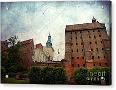 Old Granaries In Grudziadz Poland Acrylic Print