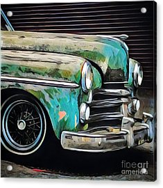 Old Green Car Acrylic Print