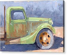 Old Green Ford Acrylic Print