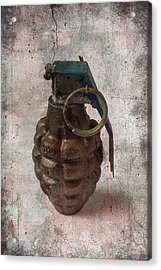 Old Grenade Acrylic Print by Garry Gay
