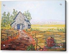 Old Grey Barn Acrylic Print