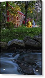 Acrylic Print featuring the photograph Old Grist Mill At Wayside Inn Historic District by Juergen Roth