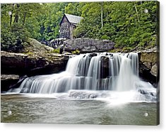 Old Grist Mill In Babcock State Park West Virginia Acrylic Print by Brendan Reals