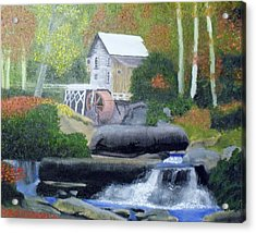 Old Grist Mill Acrylic Print by John Smith