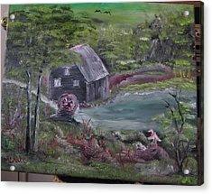 Old Grist Mill Acrylic Print by M Bhatt