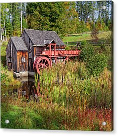 Old Grist Mill Square Acrylic Print by Bill Wakeley