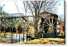 Old Gristmill Acrylic Print by Rick Friedle