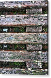 Old Grungy Wood Planks Acrylic Print