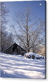 Old Hay Barn Boxley Valley Acrylic Print
