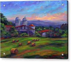 Old Hollabrook Farm At Dusk Acrylic Print by Jeff Pittman
