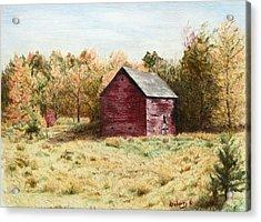 Old Homestead Barn Acrylic Print by Kathy Roberts