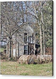 Old Homestead Acrylic Print by Linda A Waterhouse