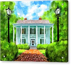 Acrylic Print featuring the mixed media Old Homestead - Smith Plantation - Roswell Georgia by Mark Tisdale