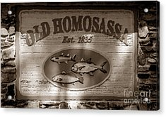 Old Homosassa Acrylic Print by David Lee Thompson